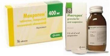Макропен – противомикробное средство