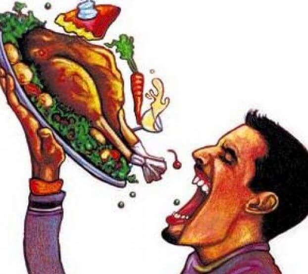 Употребление острой пищи