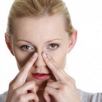 Массаж от заложенности носа