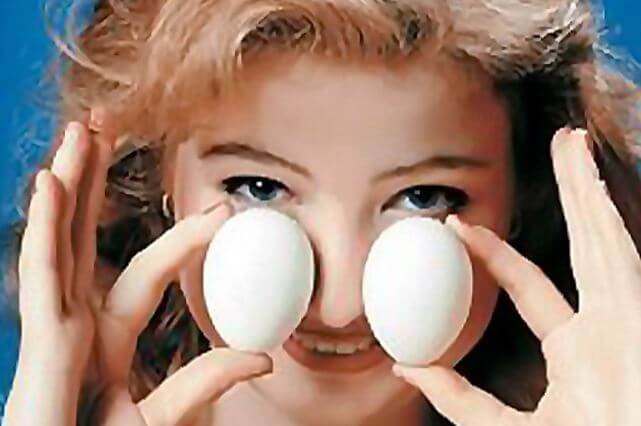 Прогревание носа яйцом