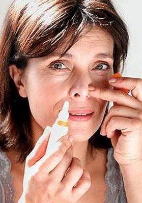 Зависимость капель в нос